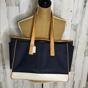 COACH Hamptons Collection canvas/leather tote
